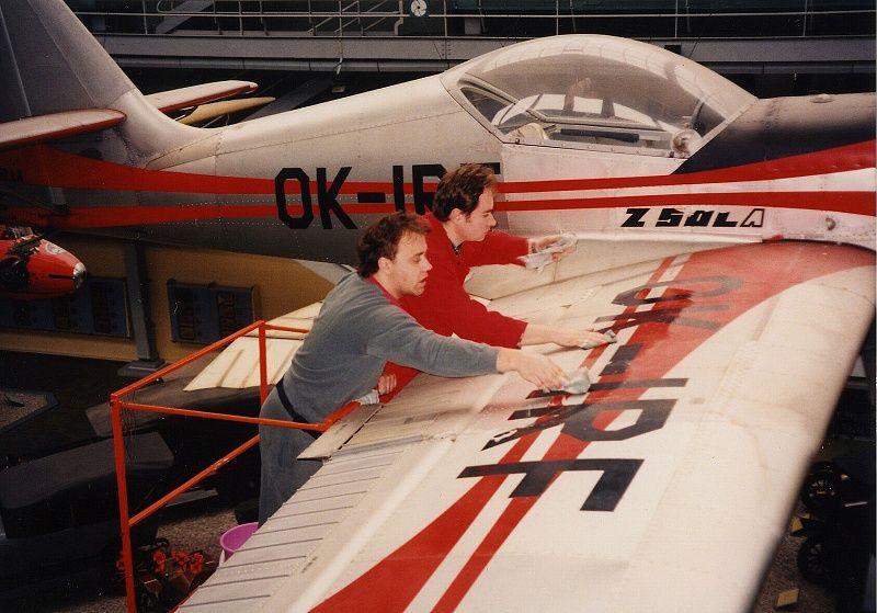 Čištění letadel v NTM bylo zajímavé