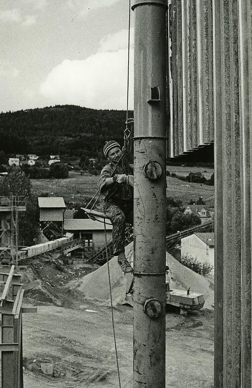 Nátěrem kamenolomu Vyšná u Č. Krumlova v roce 1988
