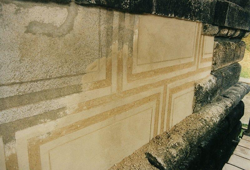 Oprava sgrafitové fasády na zámku v Nelahozevsi
