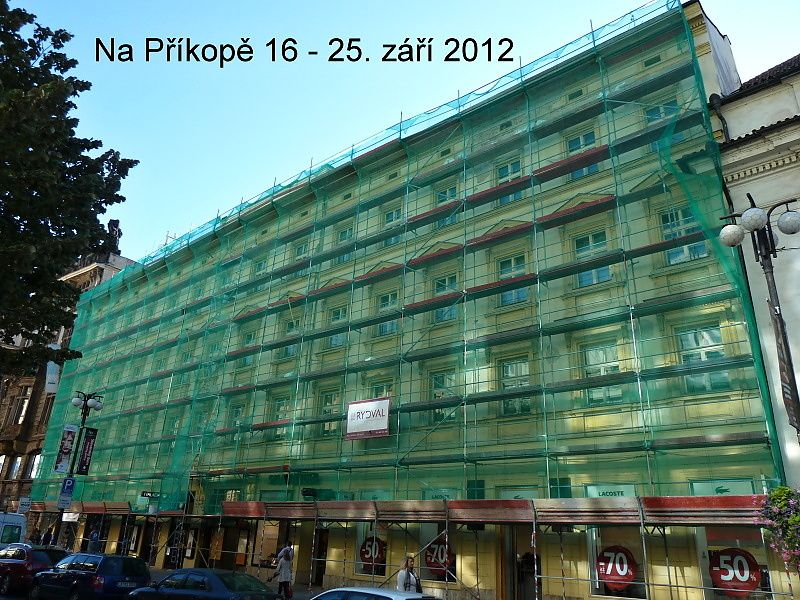Oprava fasády Na Příkopě 16
