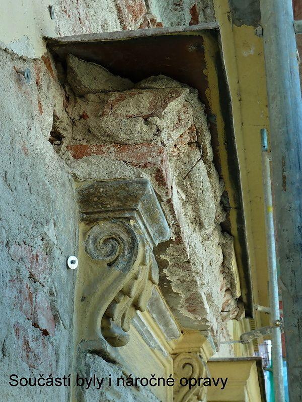 Na Příkopě 16, náročné opravy fasády